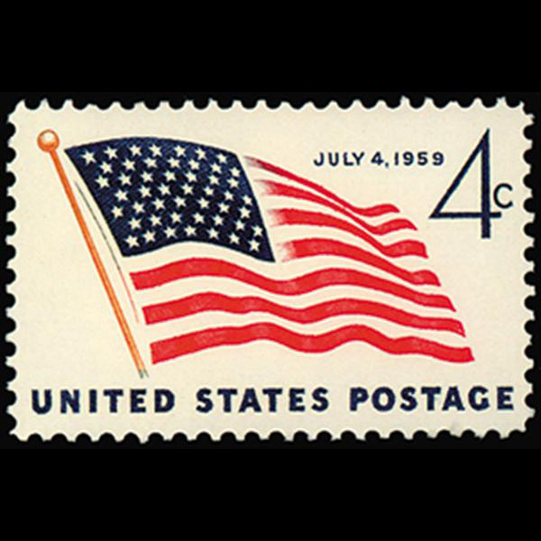 1959 4c 49-Star Flag Mint Single