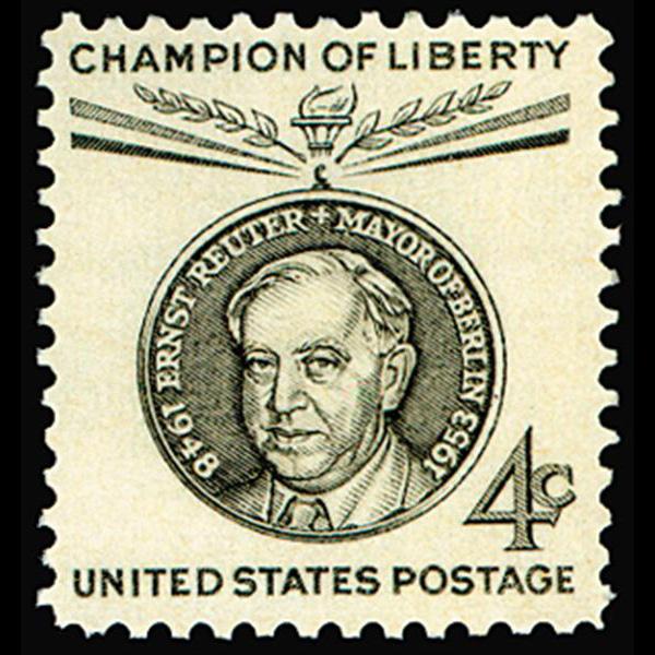 1959 4c Ernst Reuter Mint Single