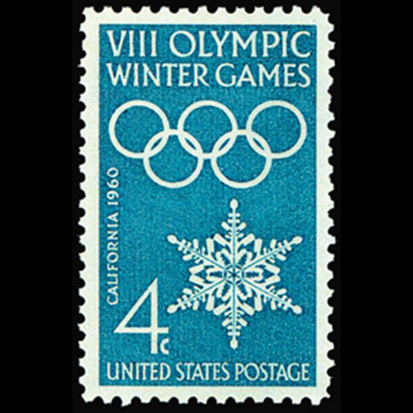 1960 4c Winter Olympics Mint Single