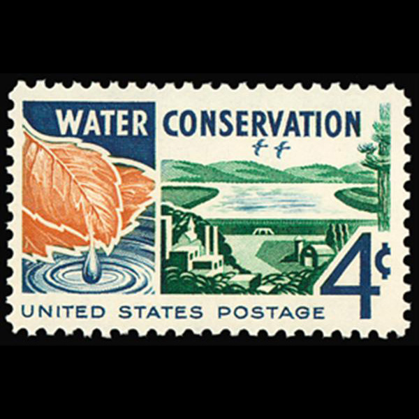 1960 4c Water Conservation Mint Single