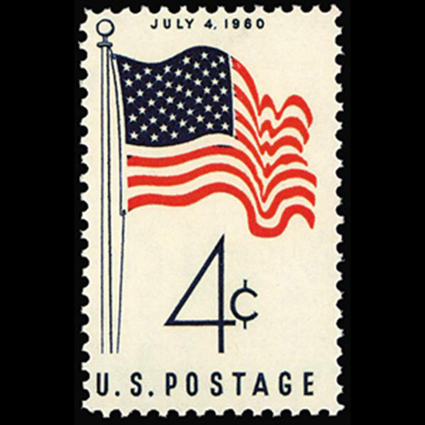 1960 4c 50 Star Flag Mint Single