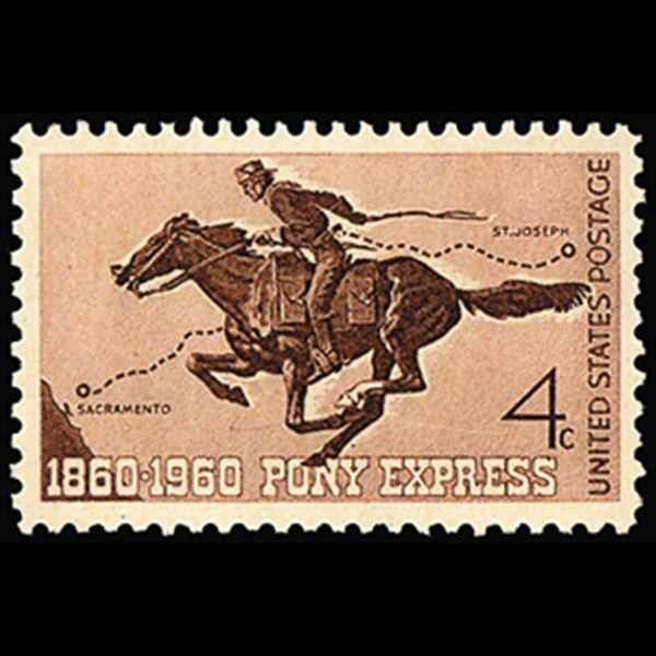 1960 4c Pony Express Mint Single