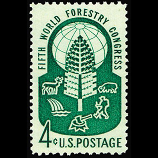 1960 4c World Forestry Congress Mint Single