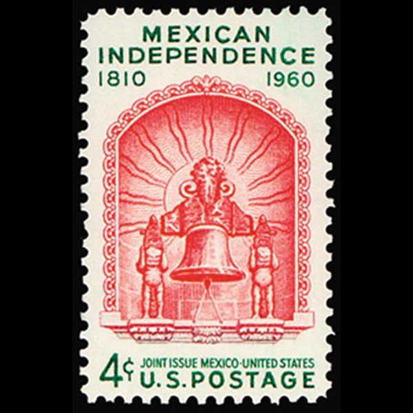 1960 4c Mexican Independence Mint Single