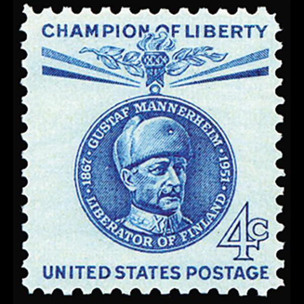 1960 4c Gustaf Mannerheim Mint Single