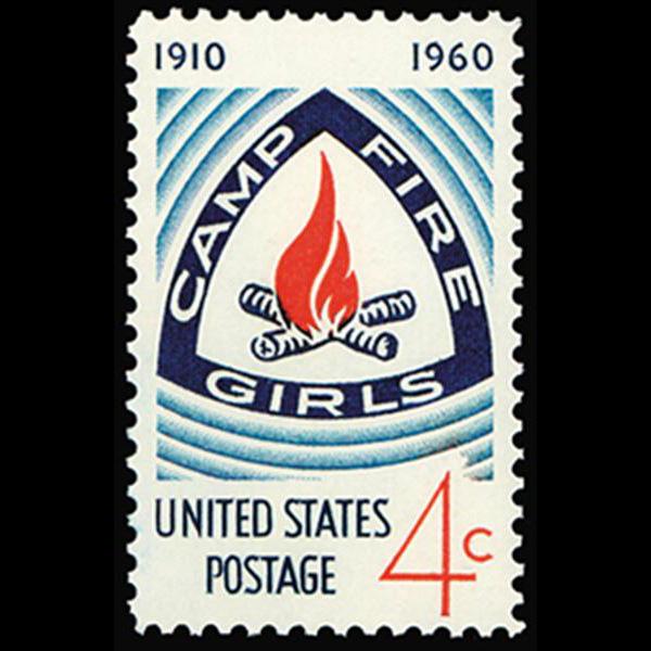 1960 4c Camp Fire Girls Mint Single