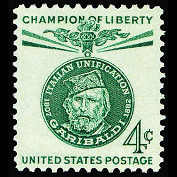 1960 4c Giuseppe Garibaldi Mint Single