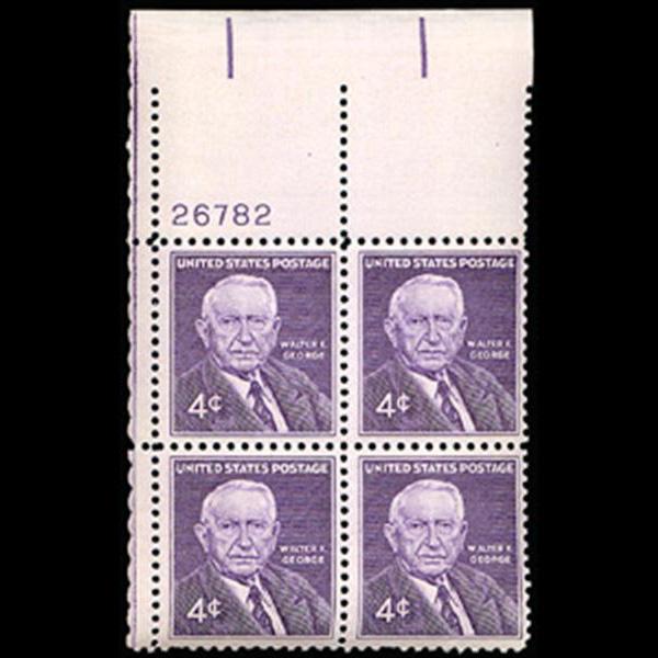 1960 4c Walter George Plate Block