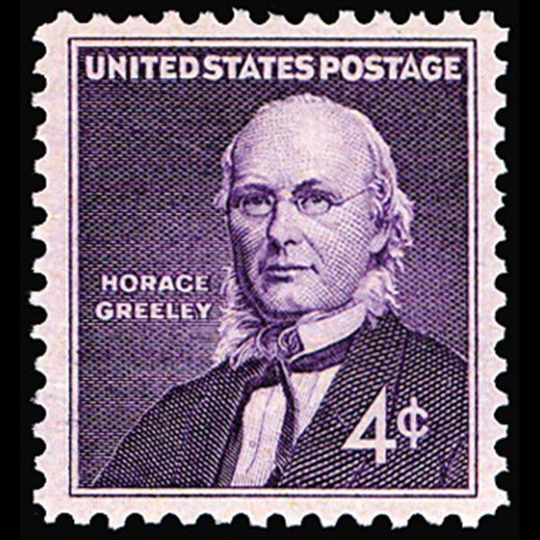 1961 4c Horace Greeley Mint Single