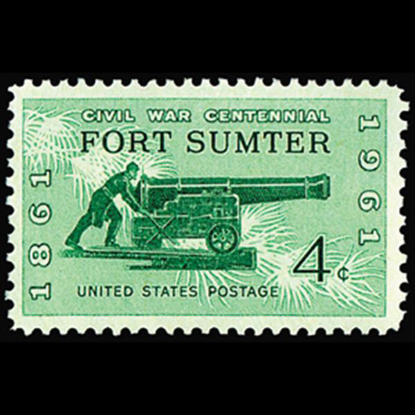1961 4c Fort Sumter Mint Single