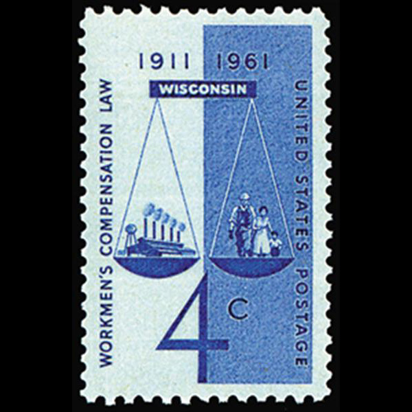 1961 4c Workmen's Compensation Mint Single