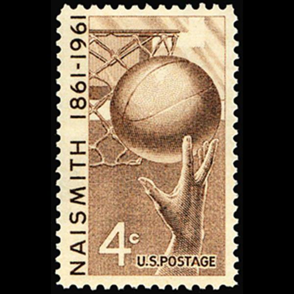 1961 4c Basketball Mint Single