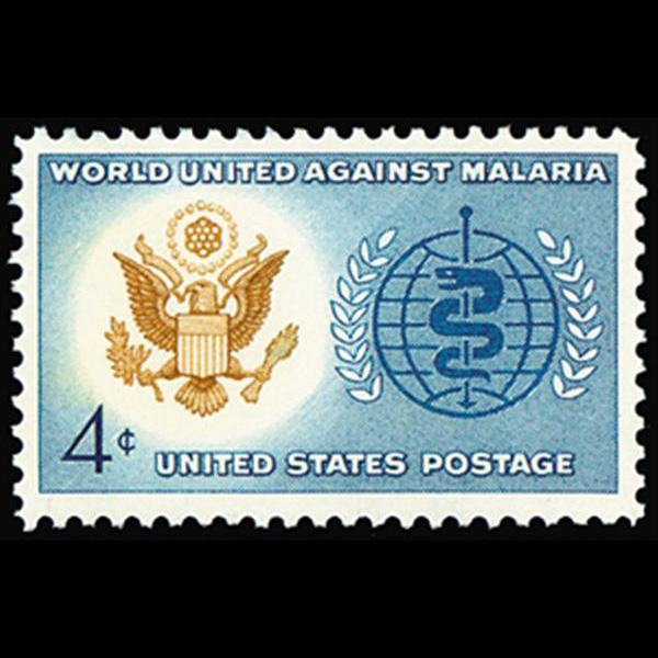 1962 4c Malaria  Eradication Mint Single