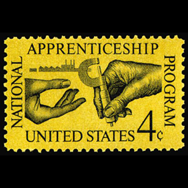 1962 4c Apprenticeship Mint Single