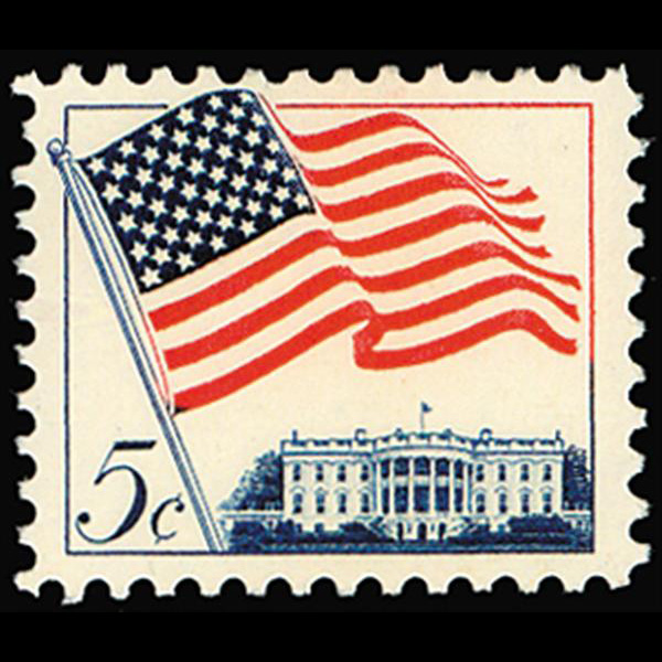 1963 5c Flag & White House Mint Single