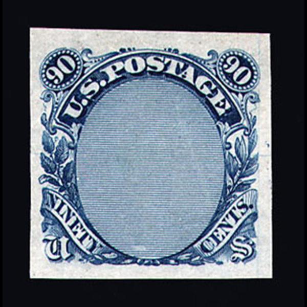 1869 90¢ Pictorial Frame Essay