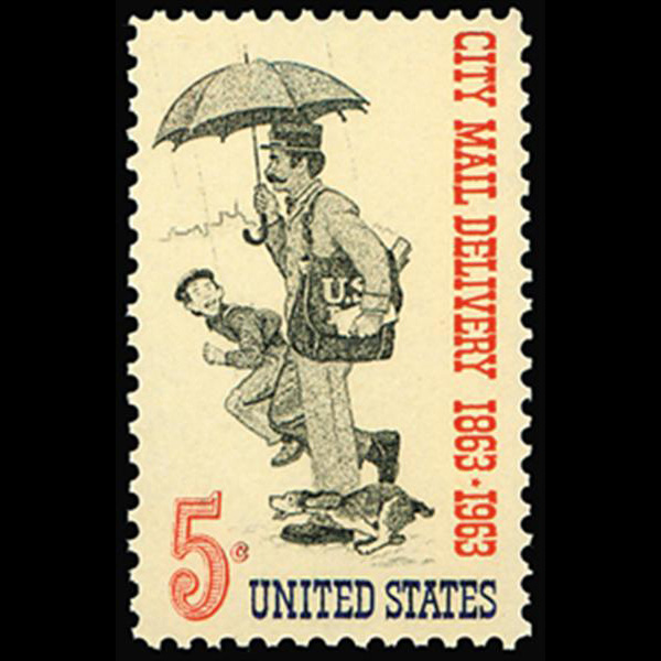 1963 5c City Mail Delivery Mint Single