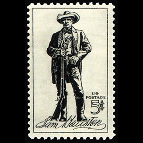 1964 5c Sam Houston Mint Single