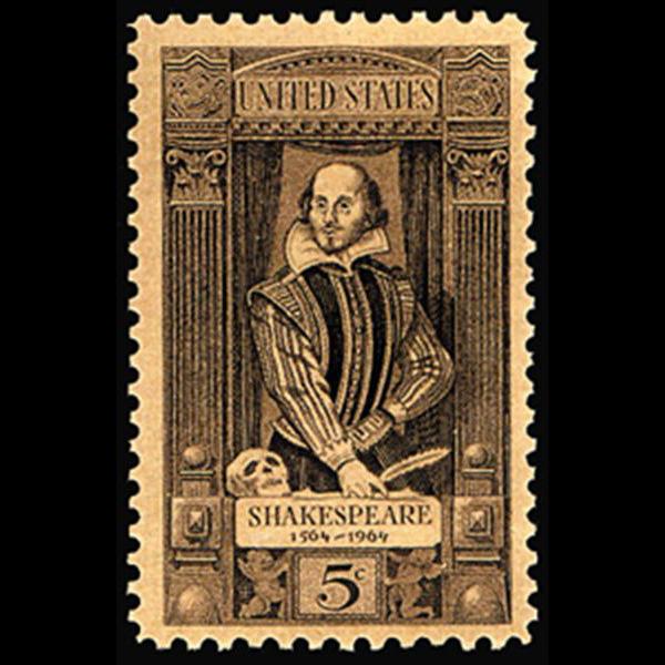1964 5c Shakespeare Mint Single