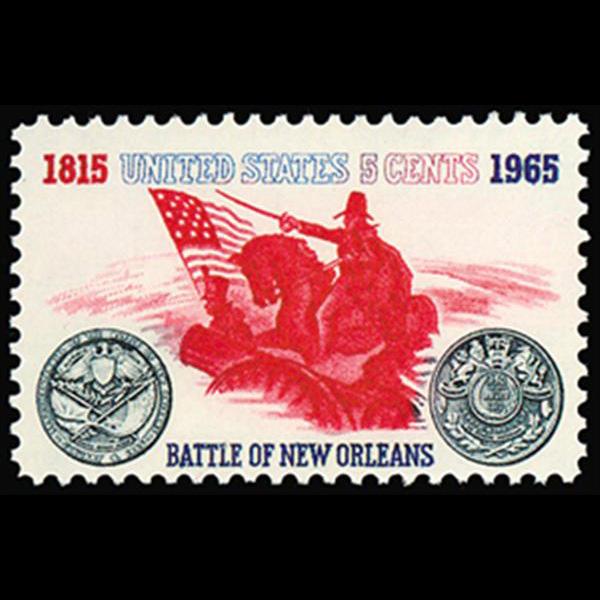 1965 5c Battle of New Orleans Mint Single
