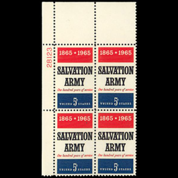 1965 5c Salvation Army Plate Block