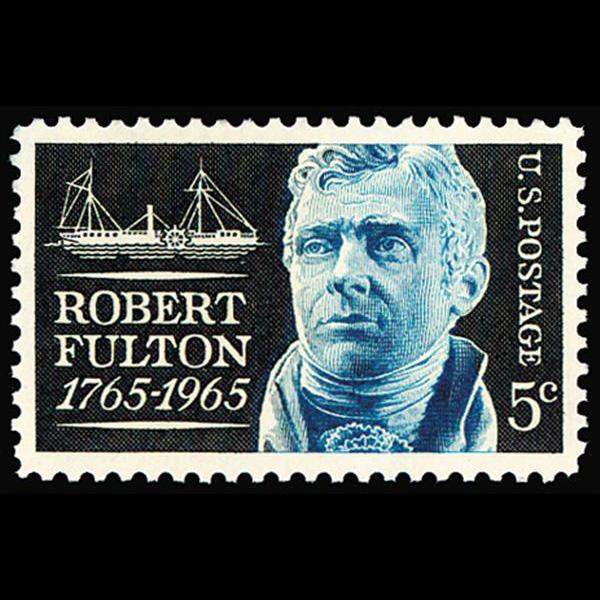 1965 5c Robert Fulton Mint Single