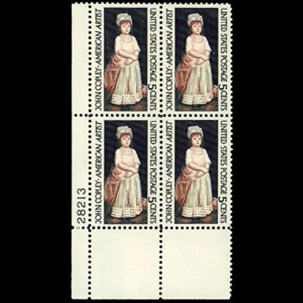 1965 5c John S. Copley Plate Block