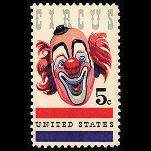 1966 5c American Circus Mint Single