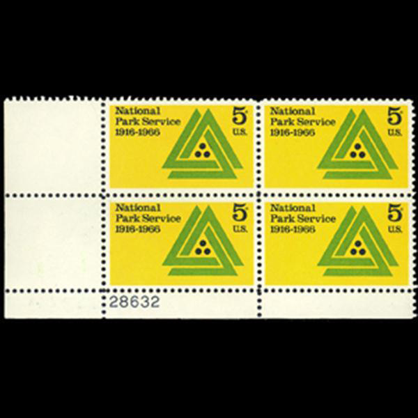1966 5c National Park Service Plate Block