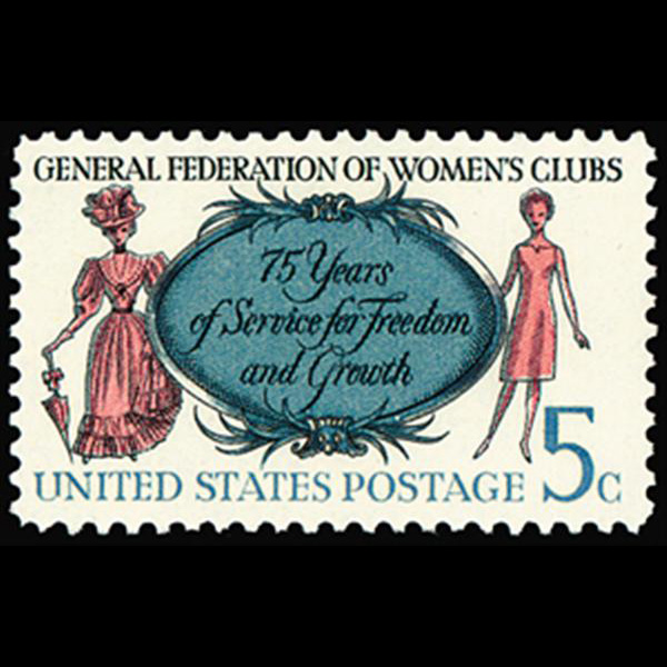 1966 5c Women's Club Mint Single