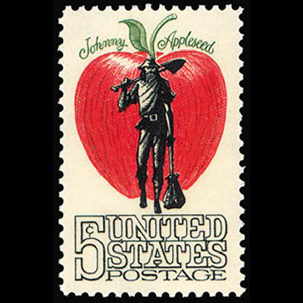 1966 5c Johnny Appleseed Mint Single