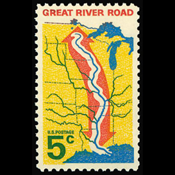 1966 5c Great River Road Mint Single