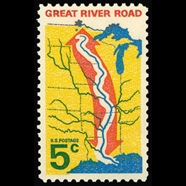 1966 5c Great River Road Mint Single