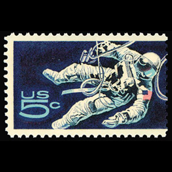 1967 5c Astronaut Mint Single