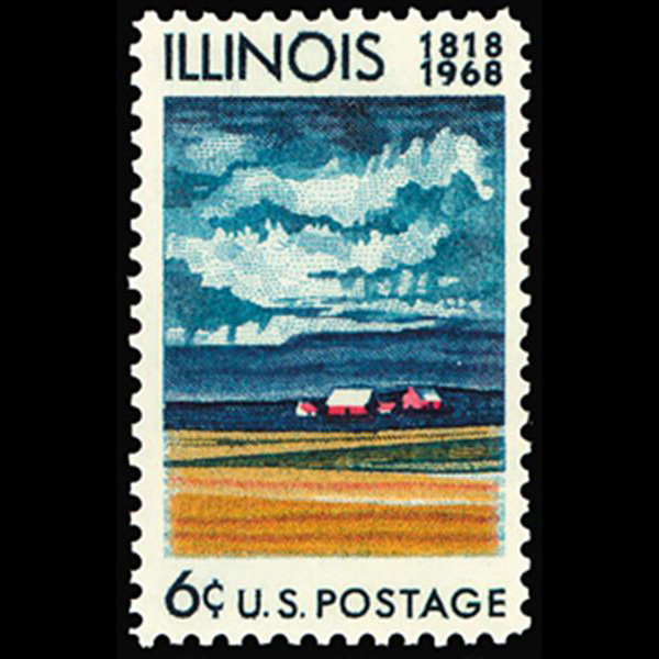1968 6c Illinois Statehood Mint Single