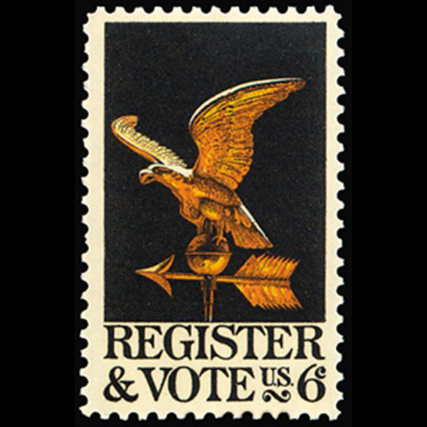 1968 6c Register & Vote Mint Single