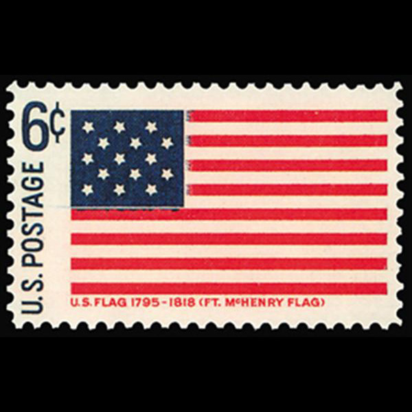 1968 6c Fort McHenry Flag Mint Single