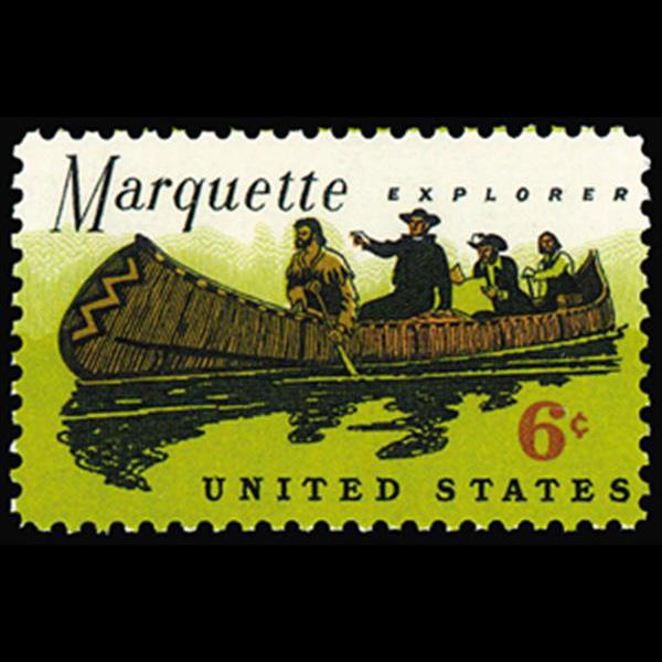 1968 6c Father Marquette Mint Single