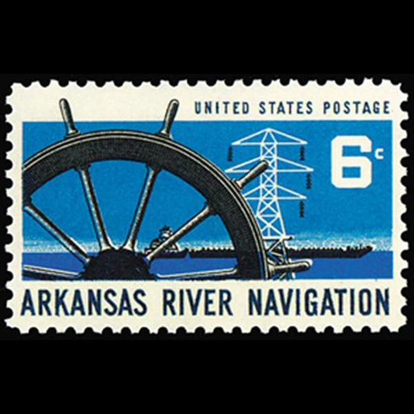 1968 6c Arkansas River Mint Single