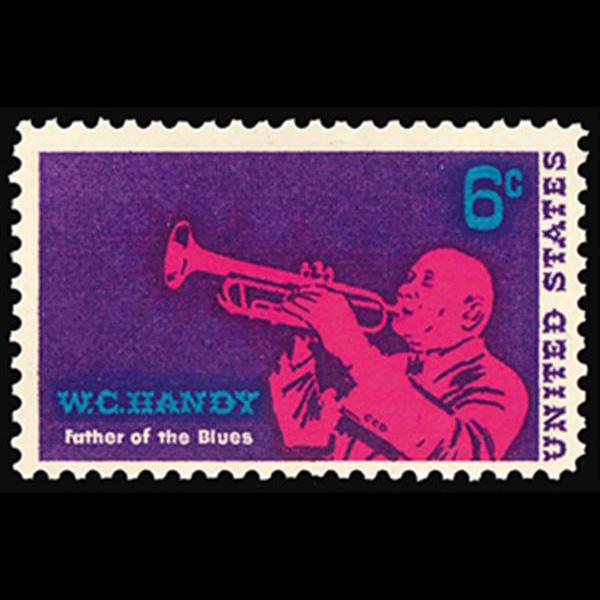1969 6c W.C. Handy-Musician Mint Single