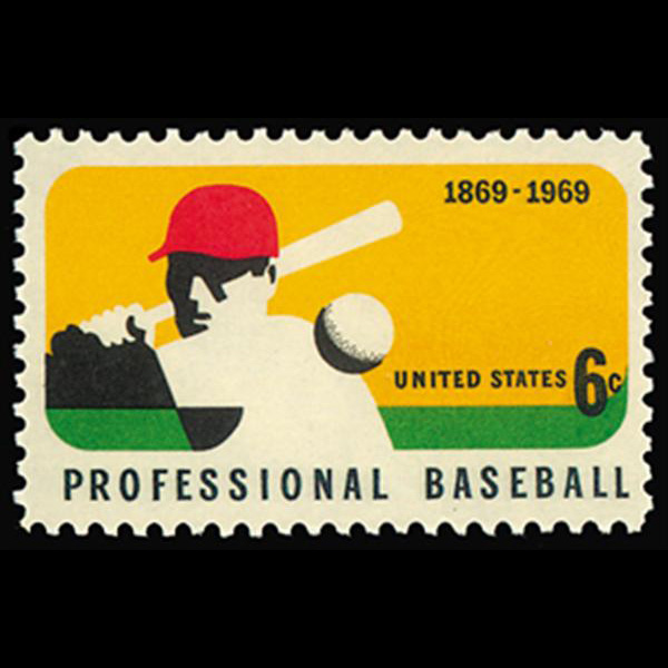 1969 6c Professional Baseball Mint Single