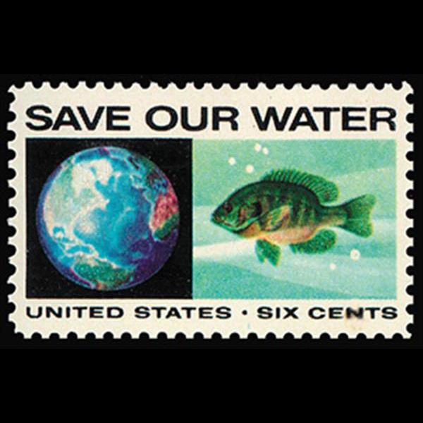 1970 6c Globe & Bluegill Mint Single