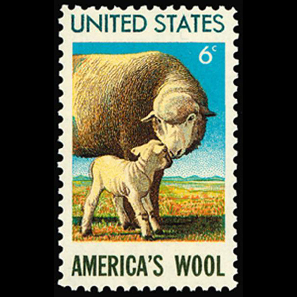 1971 6c Sheep Mint Single