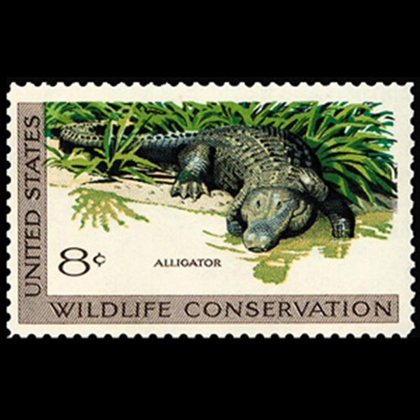 1971 8c Alligator Mint Single