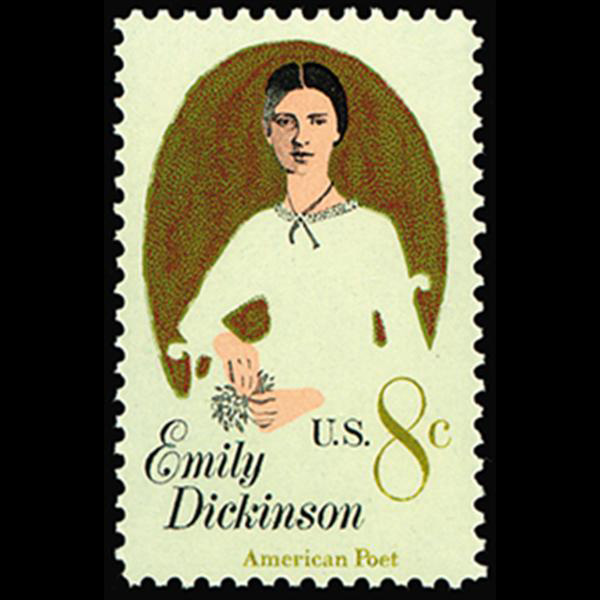 1971 8c Emily Dickinson Mint Single