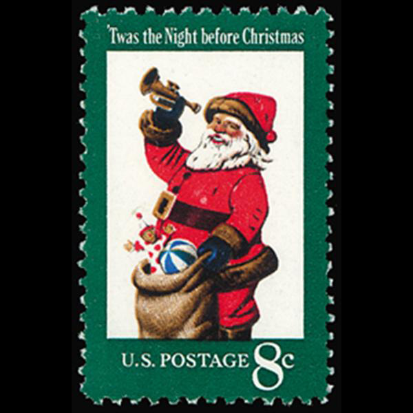 1972 8c Christmas-Santa Claus Mint Single