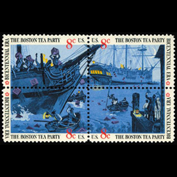 1973 8c Boston Tea Party Mint Block