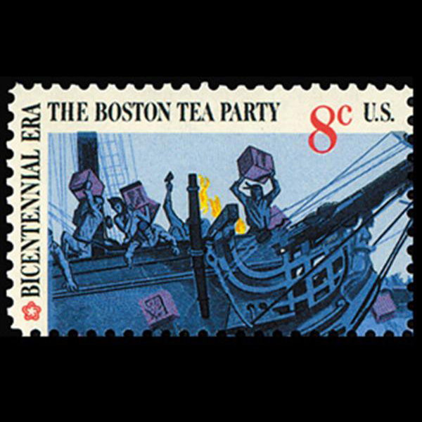 1973 8c Boston Tea Party-Throwing Tea Mint Single