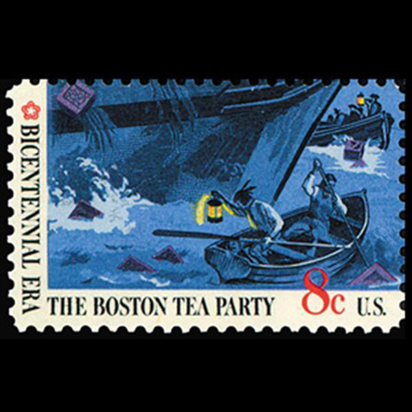 1973 8c Boston Tea Party-Rowboats Mint Single