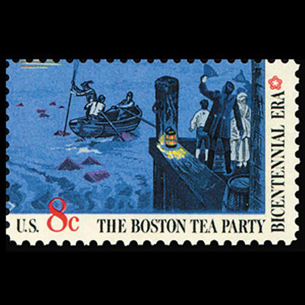 1973 8c Boston Tea Party-Rowboats & Docks Mint Single